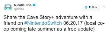 《洞窟物语+》增加多人合作模式 仅限Switch平台独占