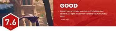 IGN评育碧新作《化鹰》达到了VR游戏的新高度 就打个7.6分好吧!