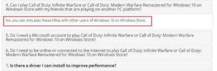 《使命召唤13》和《使命召唤4HD》被曝Win10版无法与Steam版联机