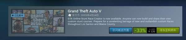 Steam平台R星周末特卖 《GTA》系列全面打折