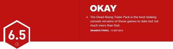 《丧尸围城》重制版IGN评分6.5 游戏内容毫无新意
