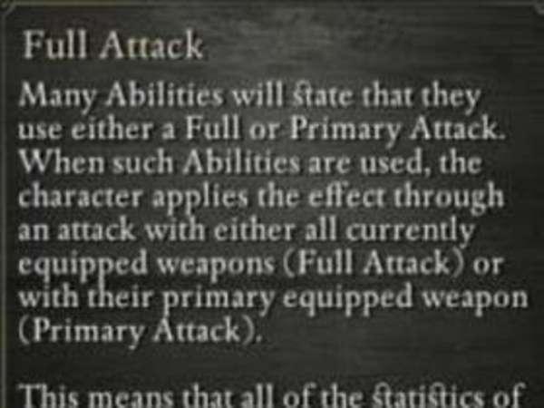 《永恒之柱》FullAttack设定解析攻略